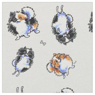 Love To Parti Pomeranians Stone Fabric