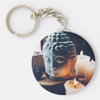 love to relax basic round button key ring