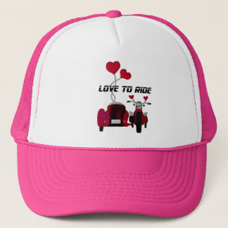Love to Ride Sidecar Motorcycles Trucker Hat