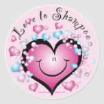 LOVE to Shampoo ©StyleStickers™ Round Sticker