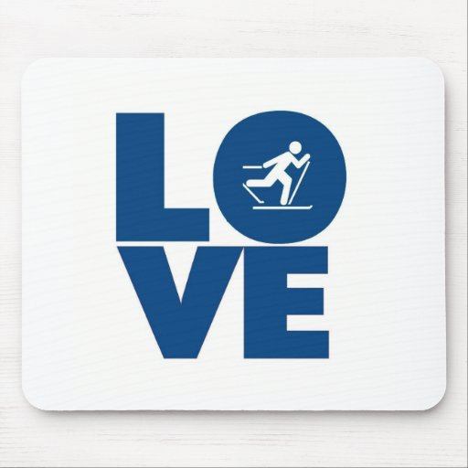 Love to ski mouse mats