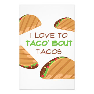 Love To Taco Stationery