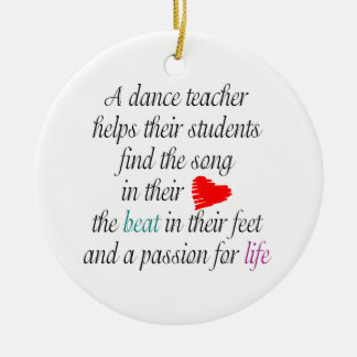 Love to Teach Dance Customizable Ornament