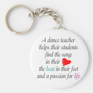 Love to Teach Dance Keychain(s) Key Ring