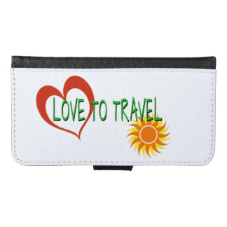 Love to Travel Samsung Galaxy S6 Wallet Case