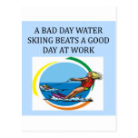love to water ski postcard