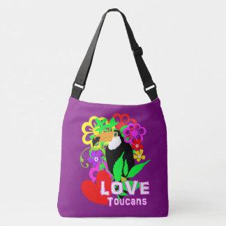 Love Toucans Cute Tropical Animal Colorful Trendy Crossbody Bag