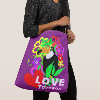 Love Toucans Cute Tropical Animal Colorful Trendy Crossbody Bag