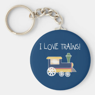 LOVE TRAINS BASIC ROUND BUTTON KEY RING