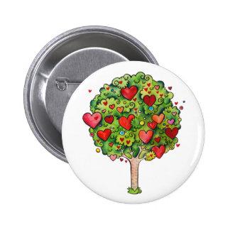 Love Tree 6 Cm Round Badge