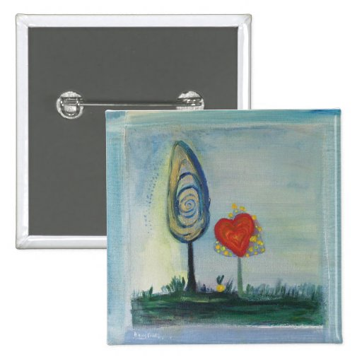 Love Tree painting Button