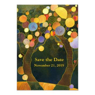 Love Trees Art Nouveau Wedding Card