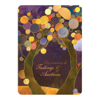 Love Trees Charity Fundraising Auction Dinner 13 Cm X 18 Cm Invitation Card