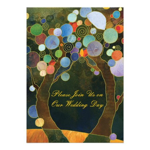 Love Trees(in Blue): Formal Wedding Invitations