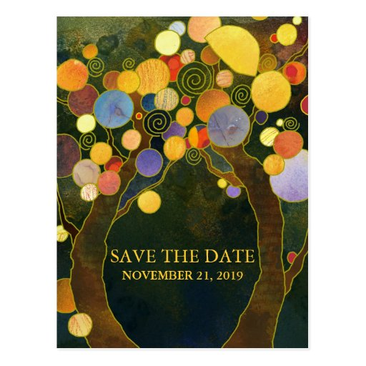 Love Trees Modern Wedding Save the Date Postcards