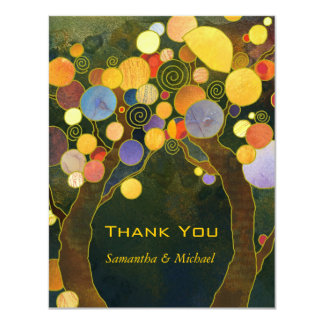 Love Trees Unique Wedding Thank You Card