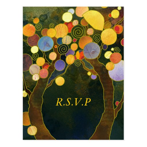 Love Trees: Wedding RSVP Postcards