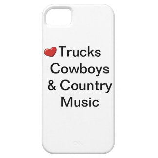 Love trucks cowboys & country music iphone case