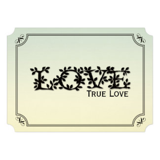 Love True Love Leafy Wedding Invitation