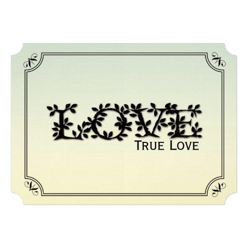 Love, True Love Leafy Wedding Invitation