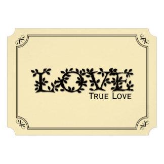 Love True Love Tree and Leaf Wedding Invitation