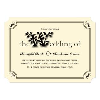 Love, True Love Tree and Leaf Wedding Invitation