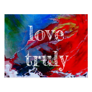 Love truly postcard