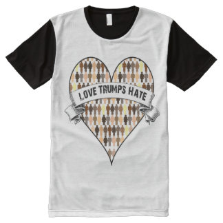 Love Trumps Hate All-Over Print T-Shirt