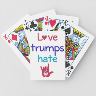 Love Trumps Hate Anti Trump Bicycle Playing Cards