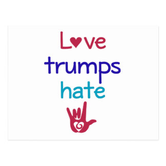Love Trumps Hate Anti Trump Postcard