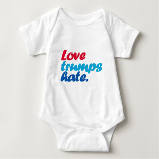 Love Trumps Hate Baby Bodysuit