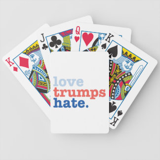 love trumps hate bicycle playing cards