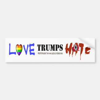 Love Trumps Hate Bumper Sticker