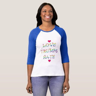 Love Trumps Hate- Colorful Rainbow Lettering T-Shirt