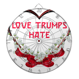 love trumps hate donald gift t shirt dartboard
