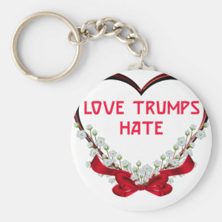 love trumps hate donald gift t shirt key ring