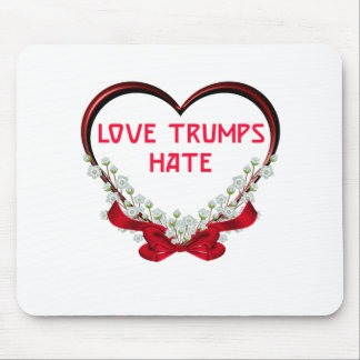 love trumps hate donald gift t shirt mouse pad
