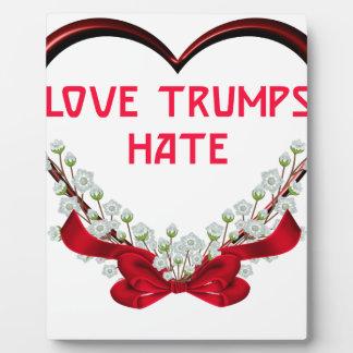 love trumps hate donald gift t shirt plaque