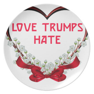 love trumps hate donald gift t shirt plate