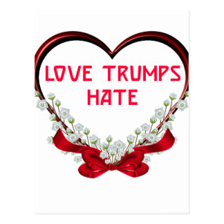 love trumps hate donald gift t shirt postcard