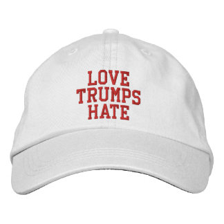 Love Trumps Hate Embroidered Cap