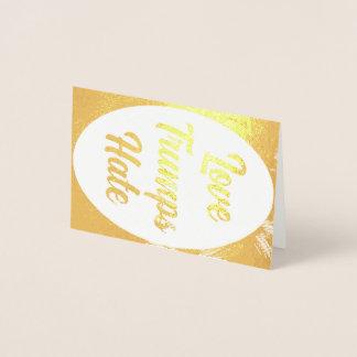 Love Trumps Hate foil card
