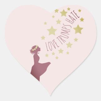 Love Trumps Hate Heart Stickers