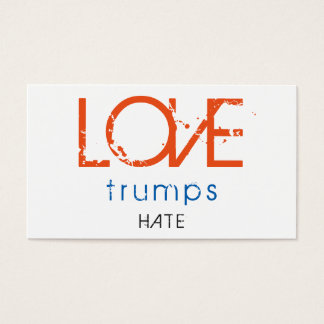 LOVE trumps HATE IV Business Card