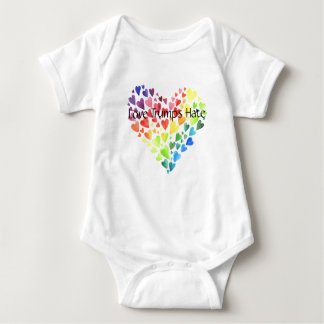 Love Trumps Hate Jersey Baby Bodysuit