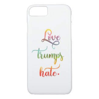 Love trumps hate. Peace. Calligraphy iPhone 8/7 Case