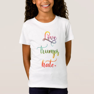 Love trumps hate. Peace, humanity. T-Shirt