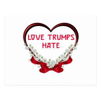 love trumps hate postcard
