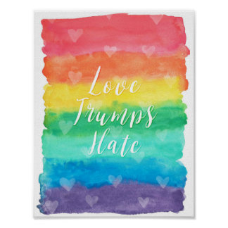 """""""Love Trumps Hate"""" Quote Poster"""