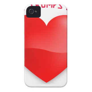 love trumps hate, red heard donald gift t shirt iPhone 4 case